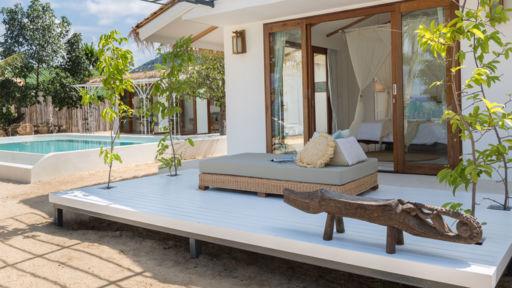 Salt Water Diary Tropical Bedroom Turquoise Paint Beachy: Kya Beach House In Bang Po Beach, Koh Samui